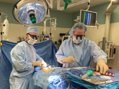 Dr. Peter Sylvester in surgery